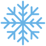 transparent snowflake