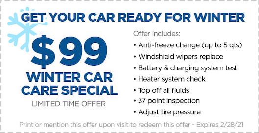 Weston Automotive  Winter Car Care Special Coupon